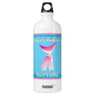 My Heart Belongs To Neptune Aluminum Water Bottle