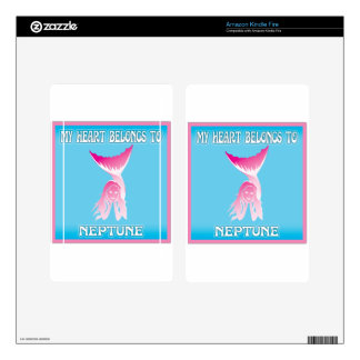 My Heart Belongs To Neptune Decals For Kindle Fire