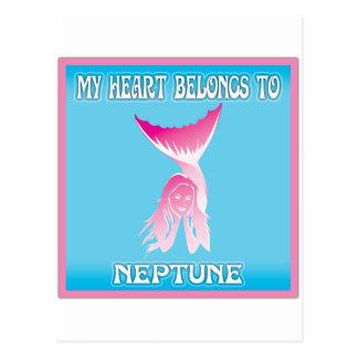 My Heart Belongs To Neptune Postcard