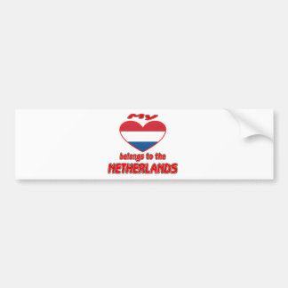 My heart belongs to Netherlands Bumper Stickers