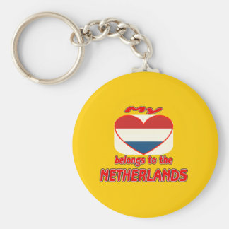 My heart belongs to Netherlands Keychains