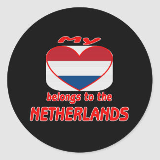 My heart belongs to Netherlands Round Sticker
