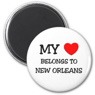 My heart belongs to NEW ORLEANS 2 Inch Round Magnet