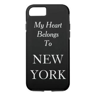 My Heart Belongs To New York Black Custom Color iPhone 7 Case