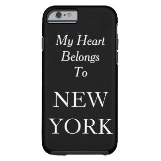 My Heart Belongs To New York Black Custom Color Tough iPhone 6 Case