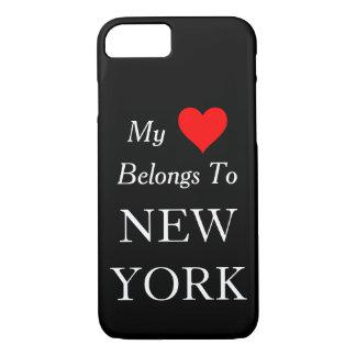 My Heart Belongs To New York Black or Custom Color iPhone 7 Case