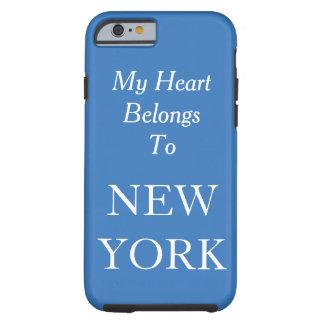 My Heart Belongs To New York Blue Custom Color Tough iPhone 6 Case