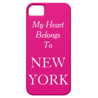 My Heart Belongs To New York Pink or Custom Color iPhone SE/5/5s Case
