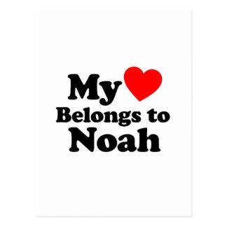 My Heart Belongs to Noah Postcard