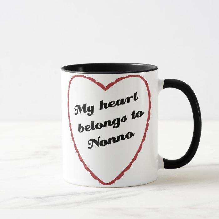My Heart Belongs to Nonno Mug