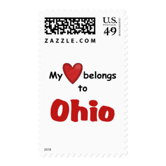 My Heart Belongs to Ohio Postage Stamps