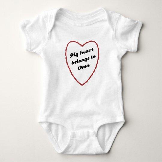 My Heart Belongs to Oma Baby Bodysuit