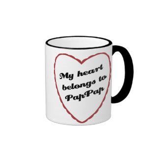 My Heart Belongs to PapPap Ringer Mug