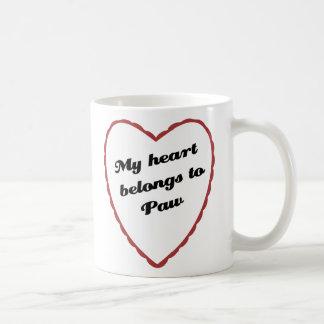 My Heart Belongs to Paw Coffee Mug
