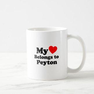 My Heart Belongs to Peyton Coffee Mug