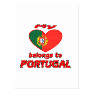 My heart belongs to Portugal Post Card