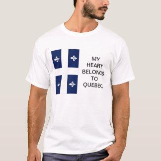 My Heart Belongs To Quebec Flag T-shirt