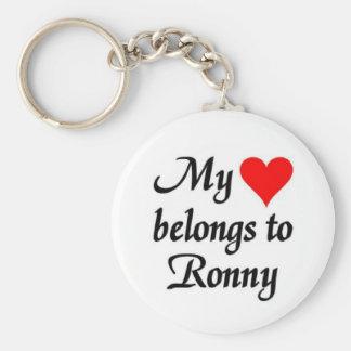 My heart belongs to Ronny Keychain
