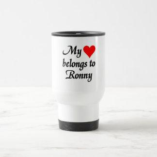 My heart belongs to Ronny Travel Mug