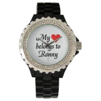 My heart belongs to Ronny Wristwatch