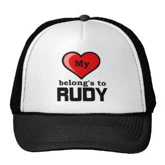 My Heart belongs to Rudy Mesh Hat