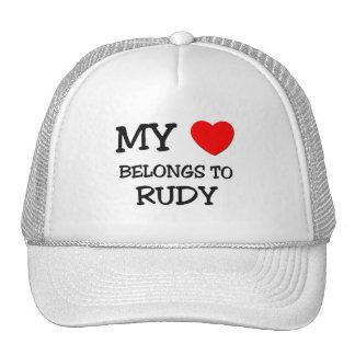 My Heart Belongs to Rudy Mesh Hats