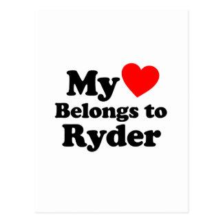 My Heart Belongs to Ryder Postcard