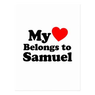 My Heart Belongs to Samuel Postcard