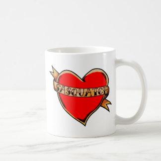 My heart belongs to sasquatch coffee mug
