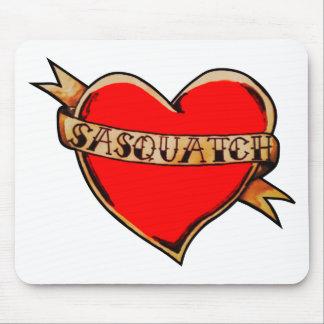 My heart belongs to sasquatch mouse pad