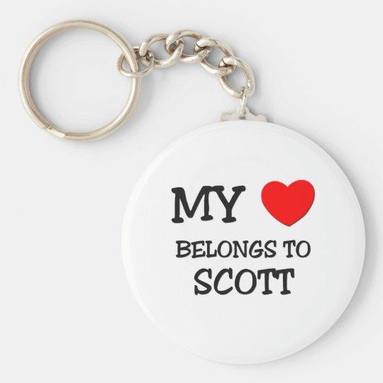 My Heart Belongs to Scott Keychain