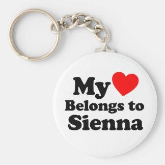 My Heart Belongs to Sienna Keychains