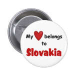 My Heart Belongs to Slovakia Buttons