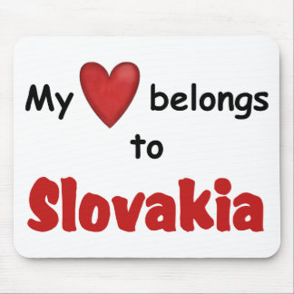 My Heart Belongs to Slovakia Mouse Pad