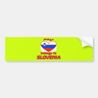 My heart belongs to Slovenia Bumper Sticker