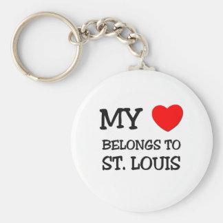 My heart belongs to ST. LOUIS Keychain