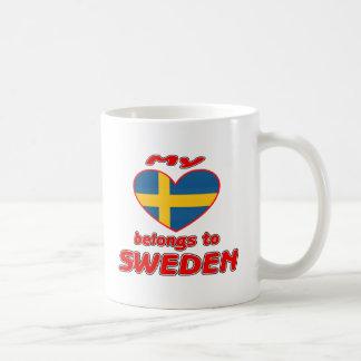 My heart belongs to Sweden Coffee Mugs