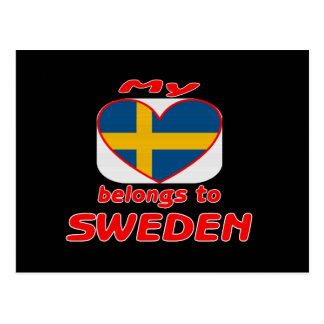 My heart belongs to Sweden Postcard
