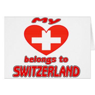 My heart belongs to Switzerland Cards