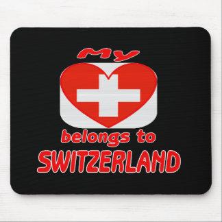 My heart belongs to Switzerland Mouse Pad