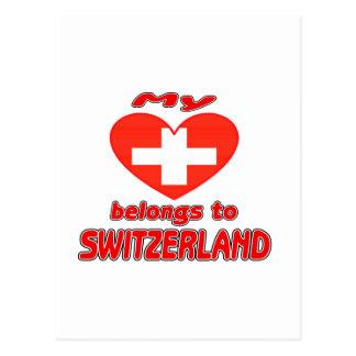 My heart belongs to Switzerland Postcards