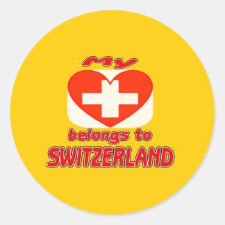 My heart belongs to Switzerland Sticker