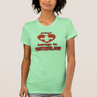 My heart belongs to Switzerland Tanktops