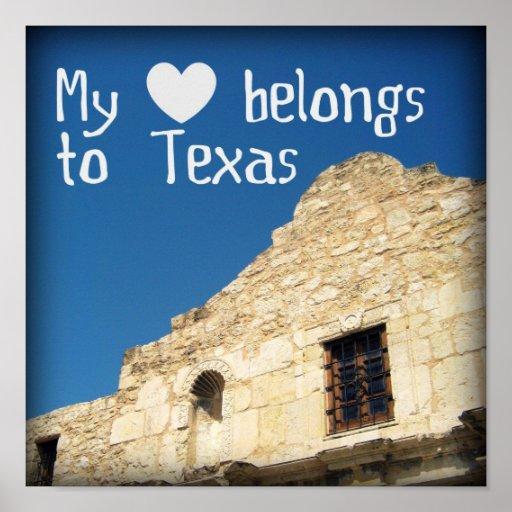 My Heart Belongs to Texas Poster