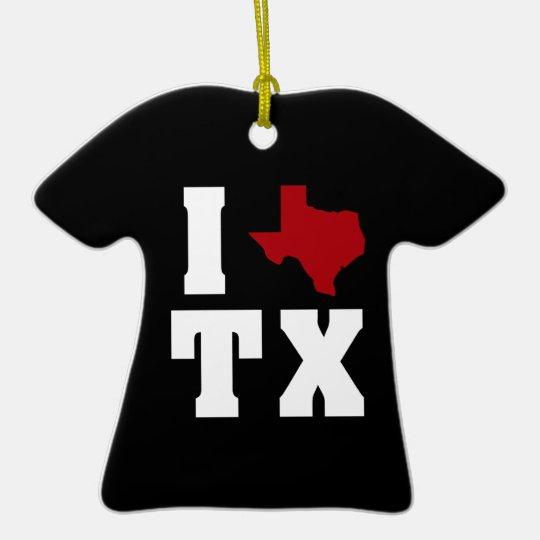 My heart belongs to Texas (sq) 2 Ceramic Ornament