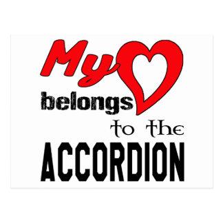 My heart belongs to the accordion. postcard