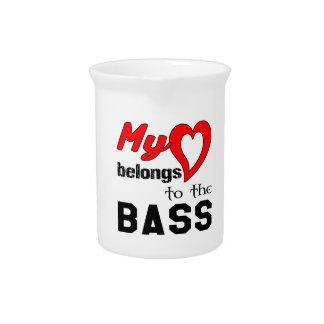 My heart belongs to the bass. drink pitchers
