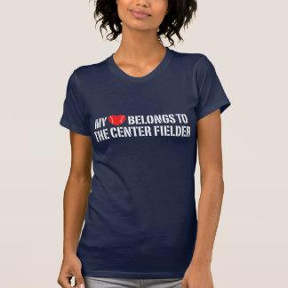 My Heart Belongs To The Center Fielder T-Shirt