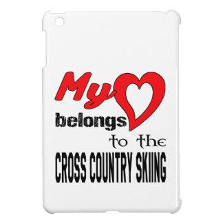 My heart belongs to the Cross Country Skiing. iPad Mini Cover
