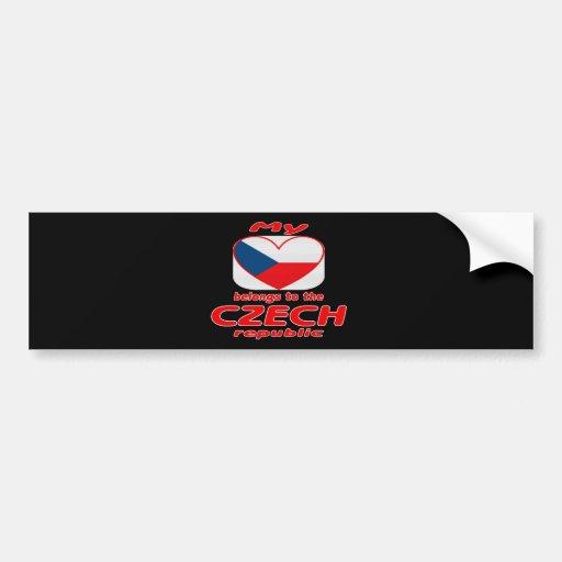 My heart belongs to the Czech republic Car Bumper Sticker